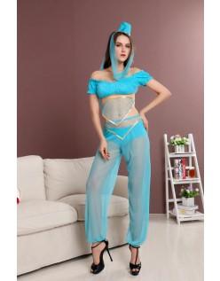 Blå Prinsesse Kostume Mavedanser Kostume
