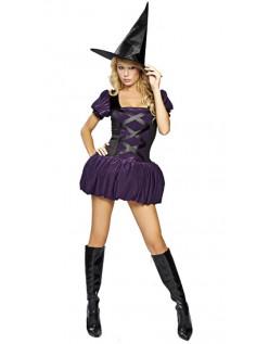 Halloween Kostumer Frække Lilla Hekse Kostume