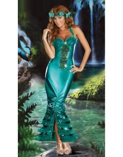 Frække Havfrue Kostumer Grøn Aftenkjoler