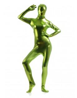 Morphsuits Kvinder All Inclusive Metallic Skinnende Dragt Grøn