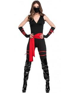 Halloween Stealth Ninja Kostume Til Kvinder