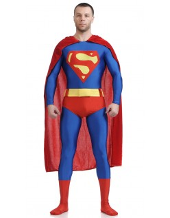 Klassisk Lycra Spandex Superman Kostume