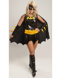 Sort Superhelte Batgirl Kostume Til Halloween