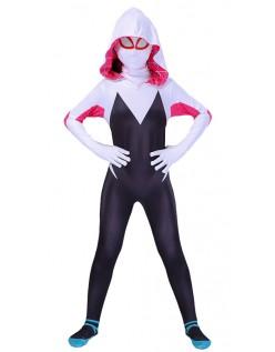 Spider Gwen Kostume Spidergirl Superhelte Kostumer Børn og Kvinder