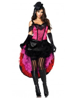 Cool Babe Burlesque Kjole Can Can Kostume