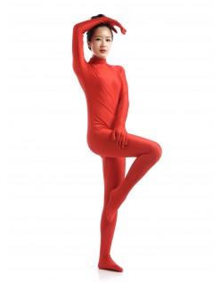 Lycra Spandex Heldragte the Dame Second Skin Kostume Rød