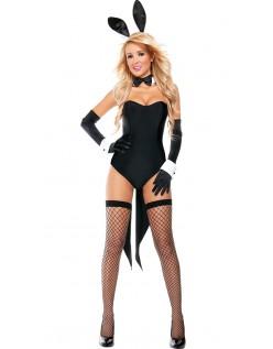 Skandaløse Fru Tux Bunny Kostume