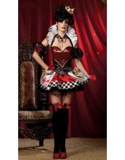 Frække Kort Hjerter Dronning Kostume
