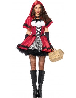 Deluxe Lille Rødhætte Kostume