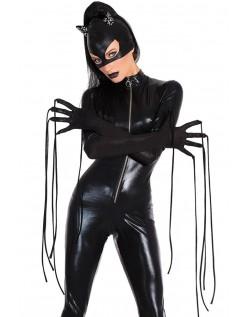 Catsuit Hård Wetlook Catwoman Kostume