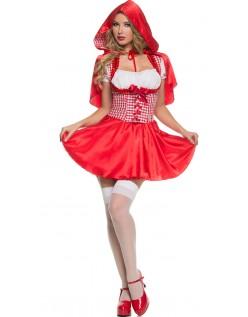 Hætteklædte Lille Rødhætte Kostume