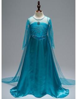 Deluxe Frozen Kostume Elsa Prinsessekjole til Børn