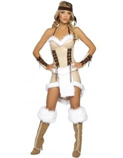 Elegant Halloween Indianer Jomfru Kostume