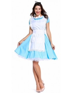 Te Tid Alice i Wonderland Kostume Voksen Stuepige Kostume