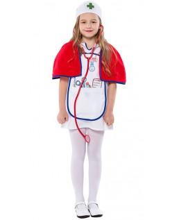 Piger Læge Sygeplejerske Kostume Halloween