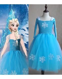 Deluxe Frozen Elsa Prinsessekjole Piger Tutu Kjole
