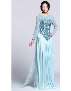 Sequin Frost Kostume Elsa Kjole Voksen