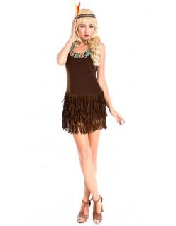Frække Pocahontas Indianer Kostume