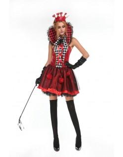 Dronning af Roser Kostume Alice i Eventyrland