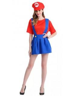 Tweens Mario Blikkenslager Kostume til Kvinder