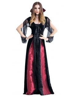 Gotisk Dronning Vampyr Kostume
