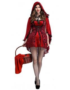 Ildrygget Lille Rødhætte Kostume