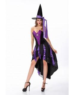 Frække Fortryllende Halloween Hekse Kostume Lilla