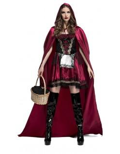 Fængslende Miss Rødhætte Kostume