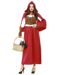 Skov Lille Rødhætte Kostume Halloween