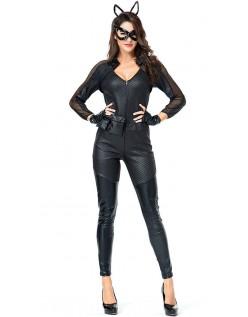Frække Deluxe Catwoman Kostume Store Størrelser