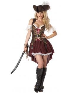 Frækt Swashbuckler Pirat Kostume