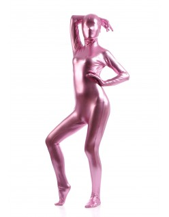 Morphsuits Kvinder All Inclusive Metallic Skinnende Dragt Lyserød