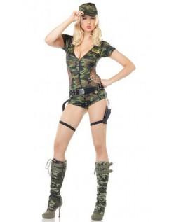 Frække Army Kostume Militær Camouflage Kostume