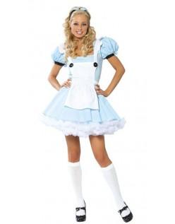 Blå Eventyr Kostume Alice i Eventyrland Kostume