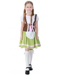 Bayersk Pige Oktoberfest Lederhosen til Børn