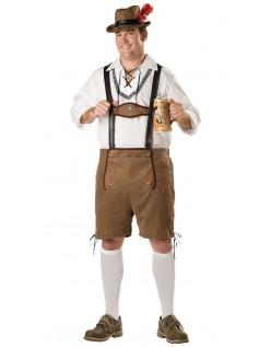 Oktoberfest Lederhosen Kostume Store Størrelser