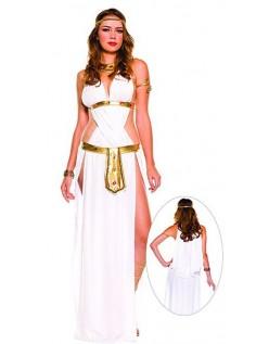 Hvid Frække Græsk Gudinde Kostume