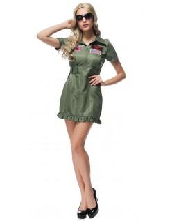 Top Gun Kostume Til Kvinder Flyvning Kjole