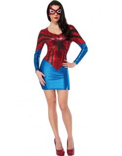 Rød Superhelte Kostume Spidergirl Kostume