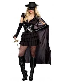 Dobbeltkantet Zorro Kostume Til Kvinder