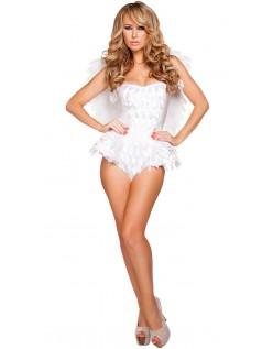 Forlængende Halloween Engel Kostume