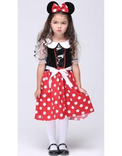 Sød Minnie Mus Kostume til Børn Halloween Kostumer