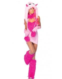 Lyserød Pust Monster Kostume til Halloween