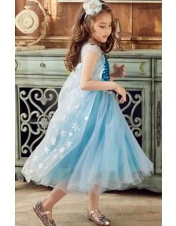 Frozen Kostumer Sequin Elsa Prinsessekjole til Børn