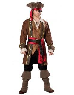 Deluxe Skulduggery Pirat Kaptajn Kostume