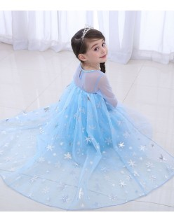 Frozen Kostumer Sequin Elsa Prinsessekjole Børn Langærmet
