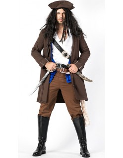 Prestige Kaptajn Jack Sparrow Pirat Kostume