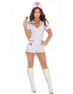 Frække Sygeplejerske Kostume Hvid