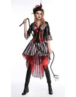 Skønhed Halloween Kaptajn Pirat Kostume