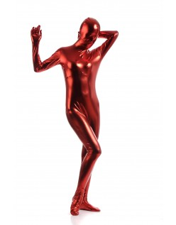 Morphsuits Kvinder All Inclusive Metallic Skinnende Dragt Rød